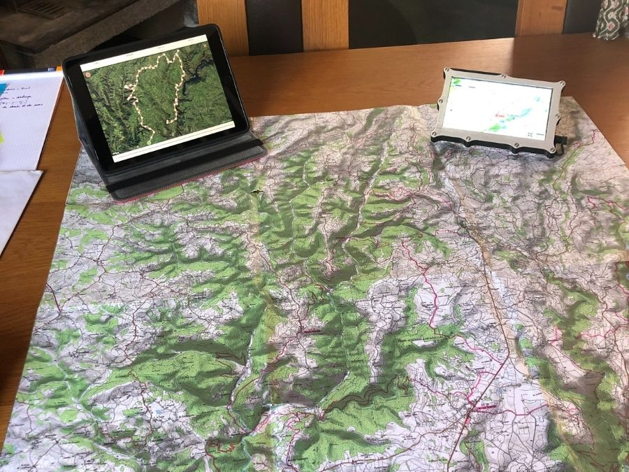 Préparation randonnée quad carte