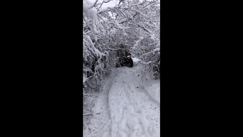 Quad dans la neige Aveyron